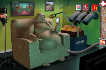 This Compilation will Reveal The Horrifying Diseases of Our Society – Illustrations by Steve Cutts
