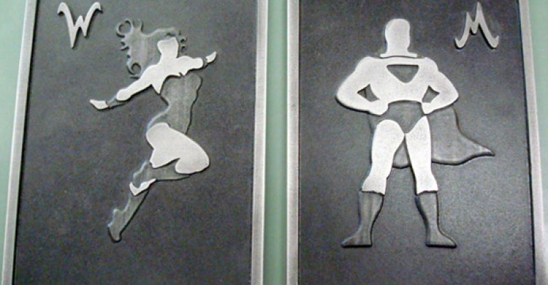 20 Bathroom Signs That Are Really Creative