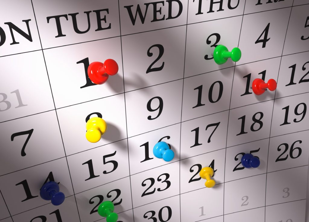 Calendar-with-pushpins