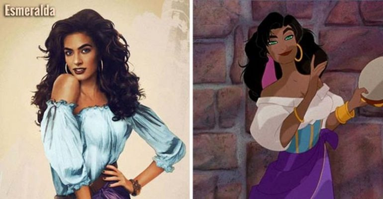 Finnish Artist Jirka Vinse Reimagined 15 Disney Characters as Real Life Women