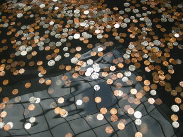 This Is What Happens To Coins Thrown In Fountains
