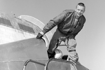 Historical Archives: Neil Armstrong in NASA Ames' Bell X-14 Aircraft