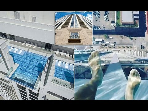 Dizzy-video-showcases-glass-bottomed-swimming-pool-40-stories-high