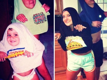 17 People Recreate Their Fav Childhood Photo