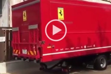 How Is Delivered A Brand New Supercar in The Most Ferrari Style