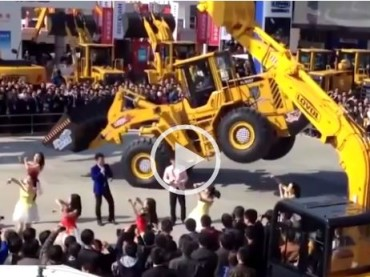 You Know It's a Party When the Wheel Loader Starts Dancing