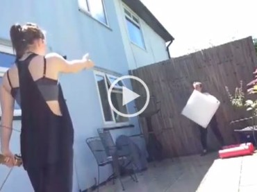 Hottie With Amazon Skills Shoots An Arrow… With Her Feet!