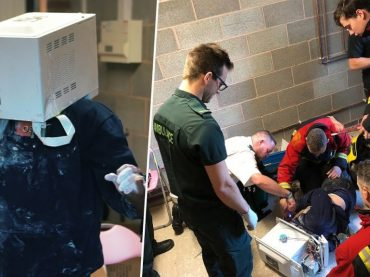 Man Cements His Head in the Microwave and His Friends Called 911
