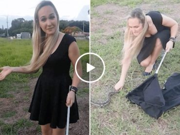 This Cute Girls Knows How to Tame Big Snakes