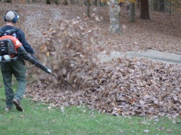 Dads Gets Pranked By His Kids While He's Blowing The Leaves